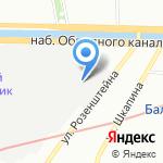 Пашканис на карте Санкт-Петербурга