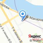 СПбГУ на карте Санкт-Петербурга