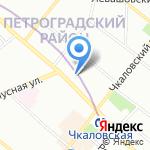 Архитектурная мастерская Трофимовых на карте Санкт-Петербурга