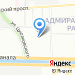 Фабрика кухня на карте Санкт-Петербурга