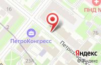 Схема проезда до компании Синтегрус в Санкт-Петербурге