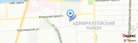 ЛКСтрой на карте Санкт-Петербурга