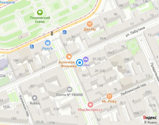 Управляющая компания «ЖКС №1 Адмиралтейского района» на карте Санкт-Петербурга