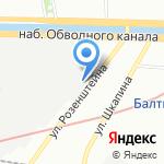 Эксперимент на карте Санкт-Петербурга