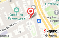 Схема проезда до компании Квинтет в Санкт-Петербурге