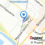Destin на карте Санкт-Петербурга