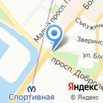 Княже Владимире на карте Санкт-Петербурга