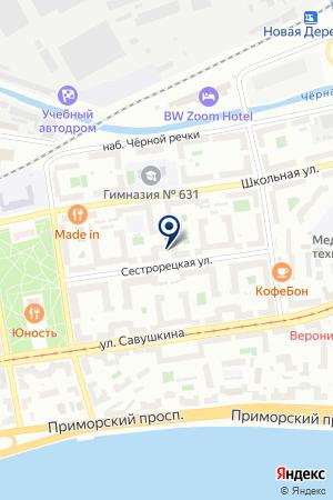 МЕХОВОЕ АТЕЛЬЕ БАРС на карте Санкт-Петербурга