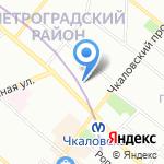 Такт на карте Санкт-Петербурга