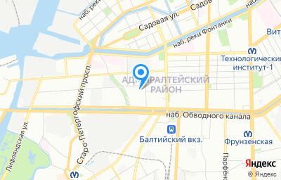 Местоположение на карте пункта техосмотра по адресу г Санкт-Петербург, ул Курляндская, д 2/5