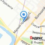 АКБ Росевробанк на карте Санкт-Петербурга