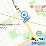 Джин на карте Санкт-Петербурга