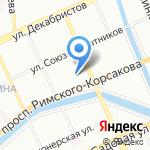 Санкт-Петербургская фабрика ортопедической обуви на карте Санкт-Петербурга