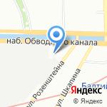 Мировые судьи Адмиралтейского района на карте Санкт-Петербурга