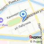 Магазин хозтоваров и домашнего текстиля на карте Санкт-Петербурга