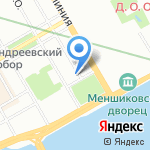 Аверс на карте Санкт-Петербурга