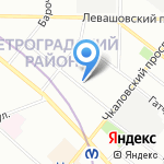 AB на карте Санкт-Петербурга