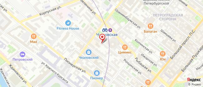 Карта расположения пункта доставки Санкт-Петербург Ропшинская в городе Санкт-Петербург