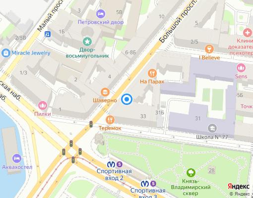 Жилищно-строительный кооператив «Попова,18» на карте Санкт-Петербурга