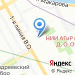 Барс на карте Санкт-Петербурга