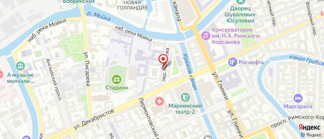 Карта расположения пункта доставки Санкт-Петербург Матвеева в городе Санкт-Петербург