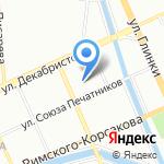 Время SPA на карте Санкт-Петербурга