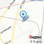 Балтийский хладокомбинат на карте Санкт-Петербурга