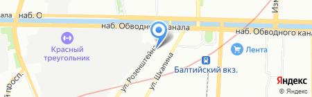 Зевс на карте Санкт-Петербурга