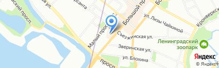 Ирис на карте Санкт-Петербурга