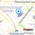 Бан Сервис на карте Санкт-Петербурга