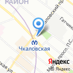Аснатеп на карте Санкт-Петербурга