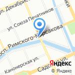 Свято-Исидоровский храм на карте Санкт-Петербурга