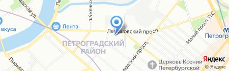 Нескучный сад на карте Санкт-Петербурга