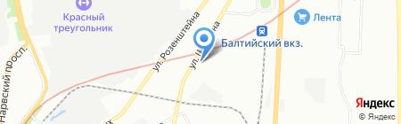 Вымпел БТФ на карте Санкт-Петербурга