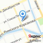 Магазин табачной продукции на карте Санкт-Петербурга