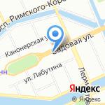 Арагви на карте Санкт-Петербурга