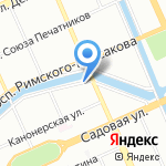 СПб Катера на карте Санкт-Петербурга