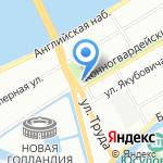 Мастерская на карте Санкт-Петербурга