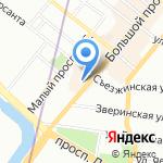 Три Пирога на карте Санкт-Петербурга