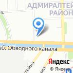 Атлантис на карте Санкт-Петербурга