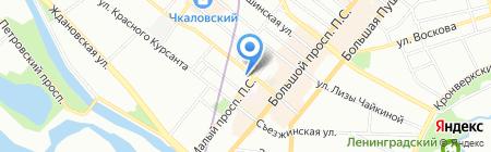 Тифлиси на карте Санкт-Петербурга