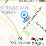 18-й отдел полиции Управления МВД Петроградского района на карте Санкт-Петербурга
