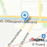 Минибар на карте Санкт-Петербурга