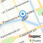 Можайский-Интеллектуальная Собственность на карте Санкт-Петербурга