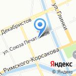 Ателье по пошиву и ремонту одежды на карте Санкт-Петербурга