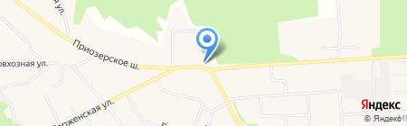 Магазин мясной продукции на Приозерском шоссе (Всеволожский район) на карте Агалатово