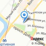 Средняя общеобразовательная школа №77 с углубленным изучением химии на карте Санкт-Петербурга