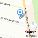 Клиар на карте Санкт-Петербурга