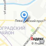 Аквамастика на карте Санкт-Петербурга
