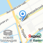 Бульвар на карте Санкт-Петербурга
